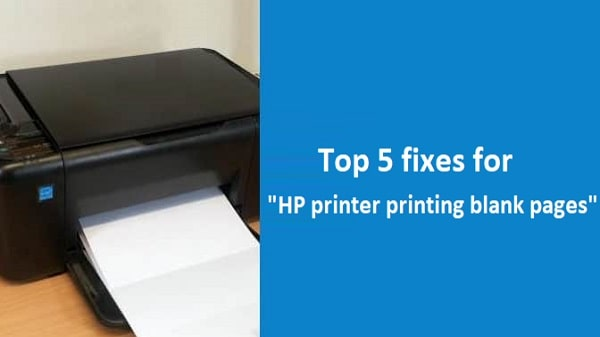 HP printer printing blank pages